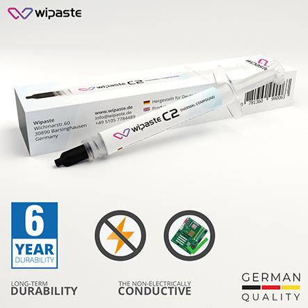 Wipaste C2 4gr 6 W/m-K Yüksek Performanslı Termal Macun